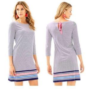 Lilly Pulitzer Blue Noelle Dress Stripe xxs